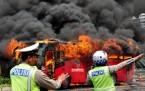Metrobüs böyle yandı