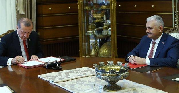 Yıldırım, 65. hükümetin kabinesini açıkladı