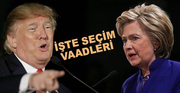 ABD seçmeni, Clinton ve Trump'a odaklandı