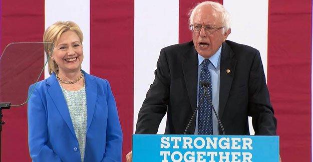 Sanders'tan, Hillary Clinton'a destek