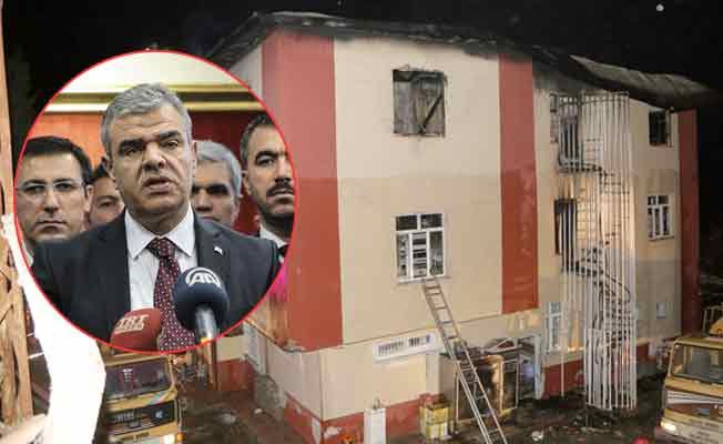 Başbakan Yardımcısı Kaynak'tan 'yanan yurt' açıklaması