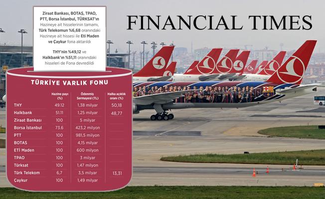 İngiliz Financial Times, 'Varlık Fonu'nu böyle gördü