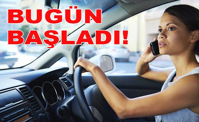 Araç Kullanırken 'Cep Telefonu' Kullananlara Büyük Ceza