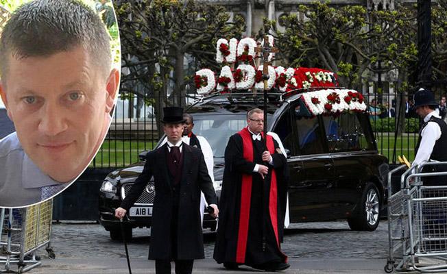 Londra saldırısında ölen polise tören