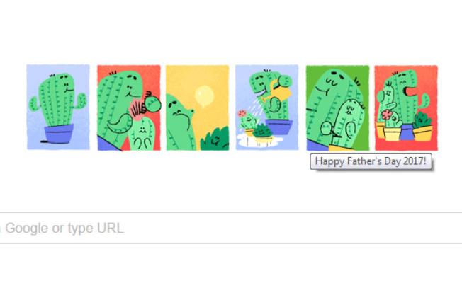 Babalar Günü'ne özel Google logo