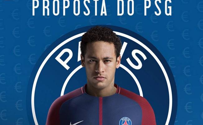 Neymar Paris'e yolcu