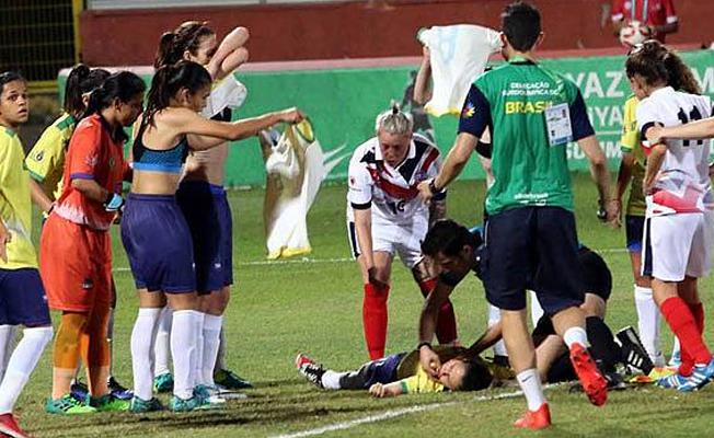 Türk hakem, maçta kadın futbolcunun hayatını kurtardı