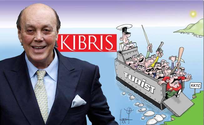 Asil Nadir'in gazetesinde 'Barbar Türkler' karikatürü