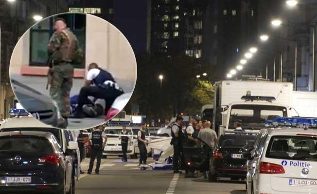 Belçika'da askerlere saldıran palalı terörist öldürüldü