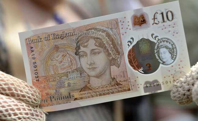 Jane Austen'lı yeni 10 sterlin tedavülde