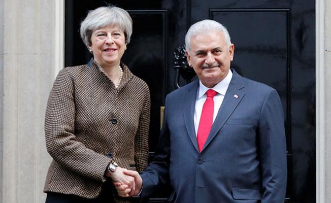 Başbakan Yıldırım, Theresa May ile bir araya geldi