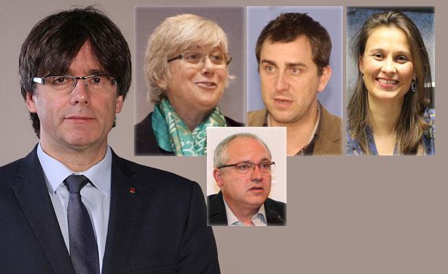 Katalan lideri ve dört kabine üyesi Belçika'da