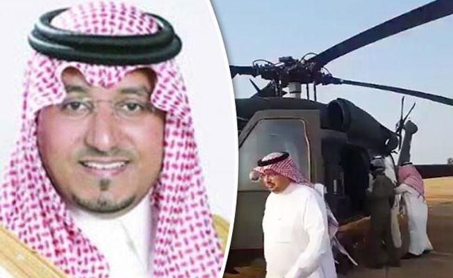 Suudi Arabistan Prensi'nin helikopteri düştü