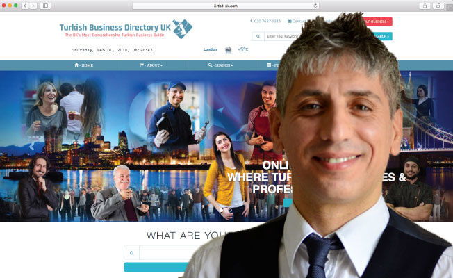 'Turkish Business Directory UK' Hizmete Girdi