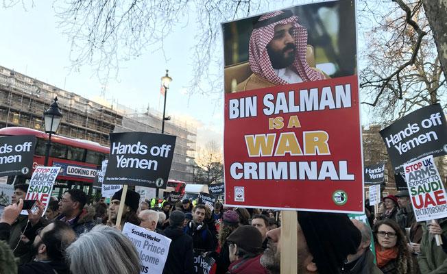 Suudi Prens Bin Selman'a Londra'da Protesto