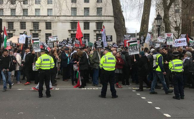 Londra'da Filistin'e destek, İsrail'i protesto