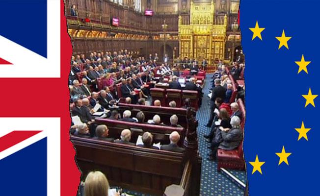 Lordlar Kamarası, Brexit Yasa Tasarısı'na Müdühale Etti