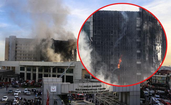 Taksim Eğitim ve Araştırma Hastanesi'nde Korkutan yangın