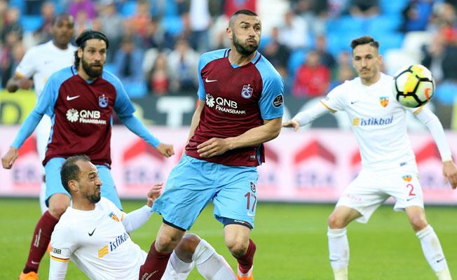 Trabzonspor, Kayserispor'a gol ziyafeti çekti