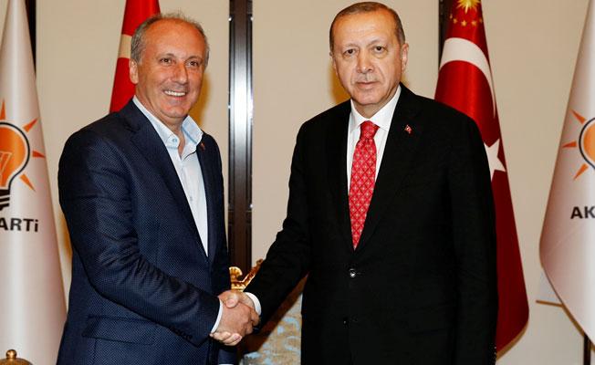 Cumhurbaşkanı Erdoğan, Muharrem İnce ile biraraya geldi
