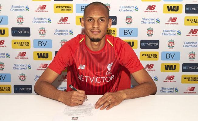 Fabinho, Liverpool formasını giydi