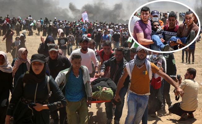 İsrail, Gazze Sınırında 41 Filistinli'yi Katletti