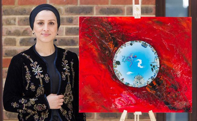 Türk Sanatçı Kaplan, Londra'da Grenfell Faciasını Tuvale Yansıttı