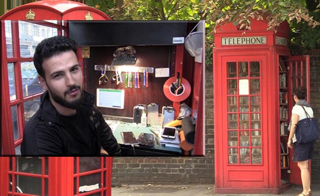 Londra'nın sembolü telefon kulübeleri alternatif kullanımlarla açıldı