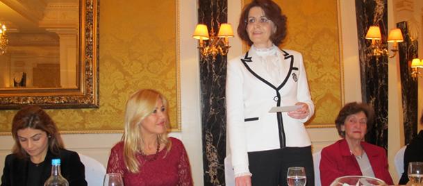 BTKDden Onursal Başkan Esra Bilgiçe tanışma çayı