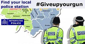 Londra Polisi'nden 'Silahından vazgeç' kampanyası