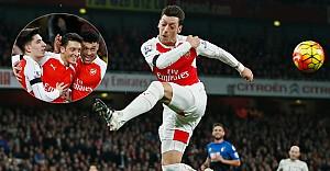 Mesut Özil, Arsenal'ı liderliğe taşıdı