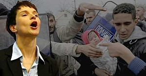 bAlman kafası: Sınırı aşan mültecileri.../b