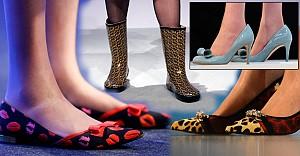 Ayakkabı koleksiyonu ile öne çıkan bakan!