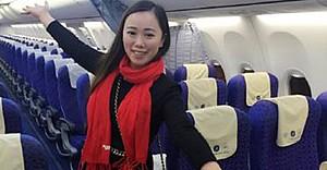 Çinli kadın Zhang uçakta tek başına