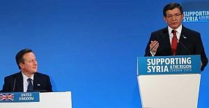 Davutoğlu Londra'da Suriye Konferans'ında konuştu