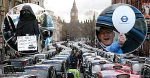 Londra'nın 'siyah taksileri' sokağa döküldü