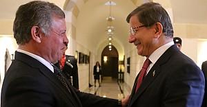 Başbakan Davutoğlu, Kral Abdullah ile görüştü