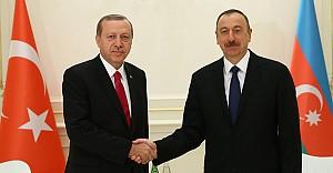 Cumhurbaşkanı Erdoğan, Aliyev'le görüştü