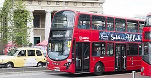 Londra otobüslerinde 'Sübhanallah' ilanları