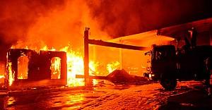 Kereste fabrikası cayır cayır yandı!