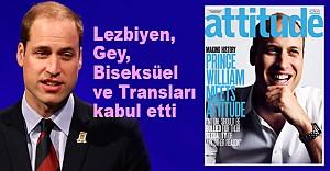 Prens William, eşcinsel dergisinin kapağında