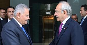 Başbakan Yıldırım ile Kılıçdaroğlu görüşmesi
