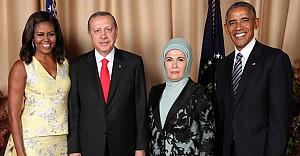 Erdoğan çifti, Obama'ların davetinde