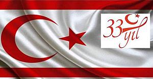 KKTC kuruluşunun 33. yılını kutluyor