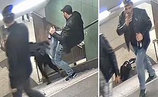 Almanya'da metroda kadına tekme atan zanlı yakalandı