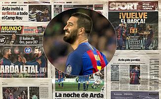 Arda, İspanya basının manşetlerinde