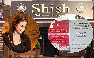 Londra'daki Türk restoranın Noel ilanı büyük ses getirdi
