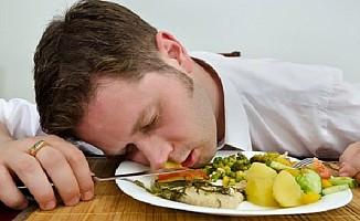 Yorgunluğun sebebi yedikleriniz