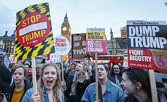 Trump'a Londra'da protesto: 'Gelme istenmiyorsun'