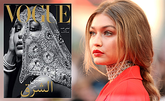 Arapça Vogue'un ilk kapak kızı Gigi Hadid'e tepki